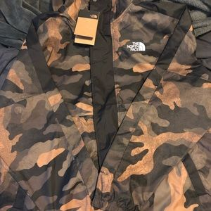 Northface Camo Windbreaker